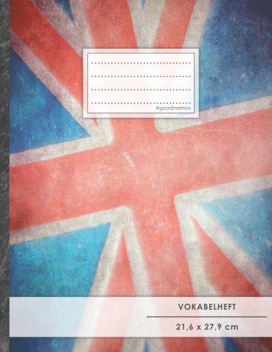 Vokabelheft: DIN A4 • 50+ Seiten, Soft Cover, Register, 2 Spalten, Erfolgs-Tacker,