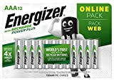 Energizer Piles Rechargeables AAA, Recharge Power Plus, Lot de 12