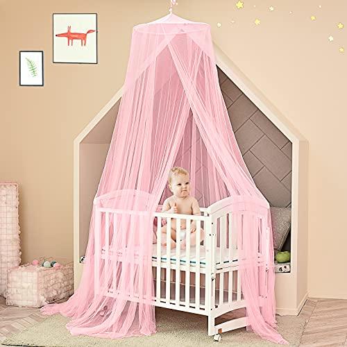 Moustiquaire de Lit, Grande ciel de lit éviter les insectes et belle décoration, Moustiquaire baldaquin pour...