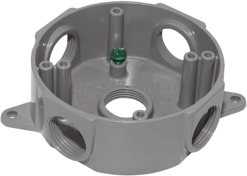 Sigma Electric Gray OFFicial Ranking TOP9 store 143854 1 5 2-Inch Round Box Hole