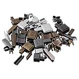 EXCEART 24 Set Kit de Reparación de Cremalleras Deslizadores de Cabeza de Metal Retenedor Pin de Inserción Cierre de Cremallera Tapón de Parada Superior Tapón de Cremallera para