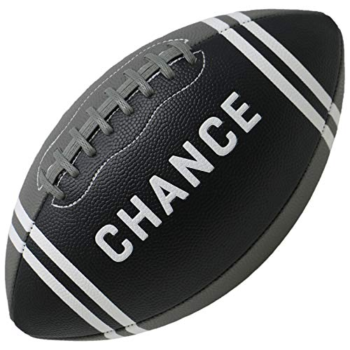 Chance Football  PRO Quality Composite Leather Size 7 Kids amp Youth Football 9 NFL Football 9 Official  11quot x 7quot x 205quot Bach  Black amp Gray