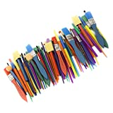 Horizon Group USA Paint Brushes -35 All Purpose Paint Brushes Value Pack – Includes 8 Di...