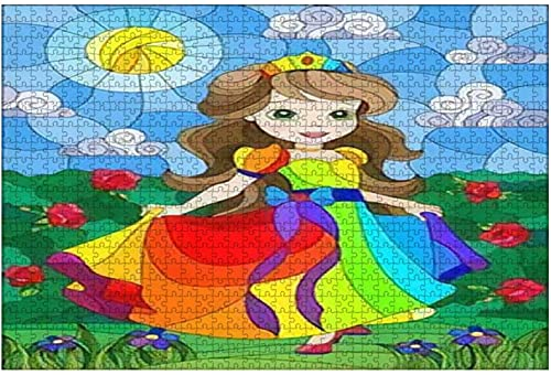 1000 piezas-Ilustración para vidrieras o alfombras de imitación de estilo Art Nouveau Rompecabezas de madera DIY Rompecabezas educativos para niños Regalo de descompresión para adultos Juegos creativ