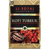 JJ Royal Coffee ジェイジェイロイヤルコーヒー インスタント Kopi Tubruk コピトゥブルック 無糖 30杯分入バッグ [並行輸入品]