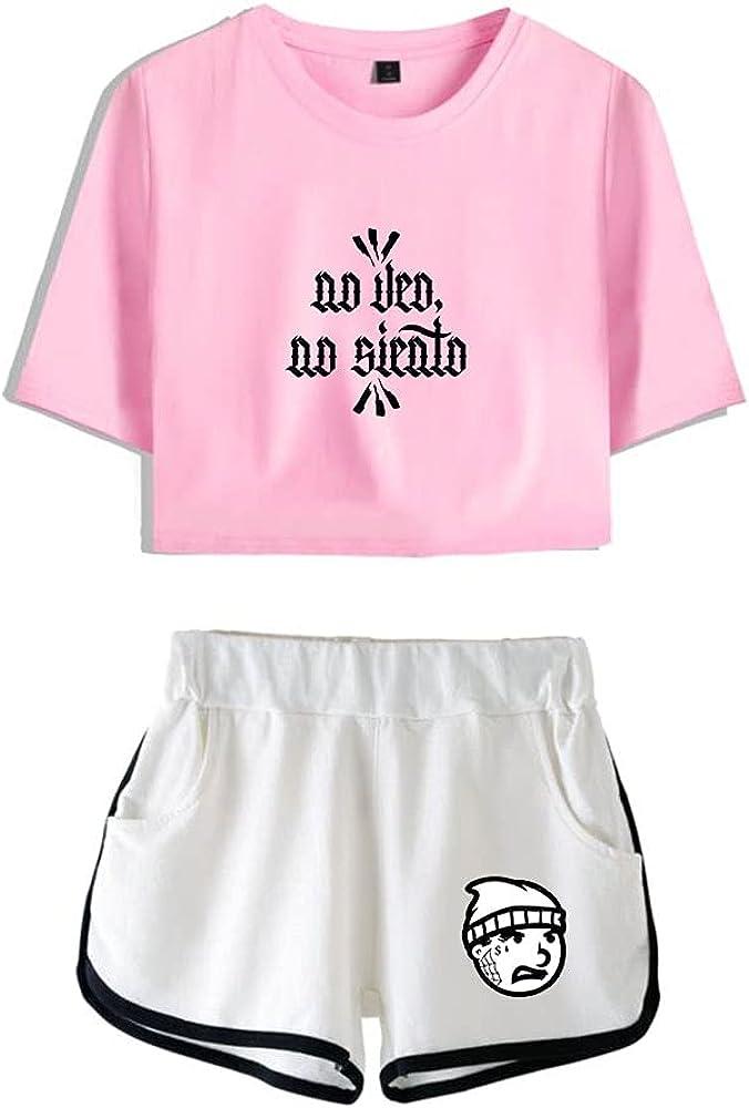 Tydres Gera MX 2 Piece Sets Hip Hop Short Sleeve Suit Womens Girl Set Casual Accessories Fashion Suit (PW-YM00722,S)