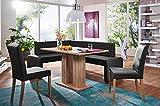 German Furniture Warehouse 4 Piece Modern Dining Set, Breakfast Nook Asti, Made in Europe