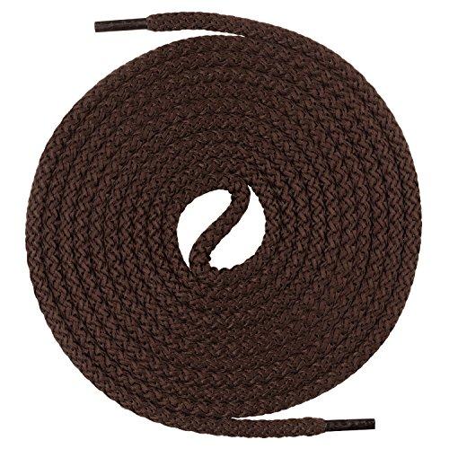 Mount Swiss runde Premium-Schnürsenkel für Militär- und Arbeitsschuhe - extrem reißfest - ø 5 mm - Farbe Braun Länge 130cm