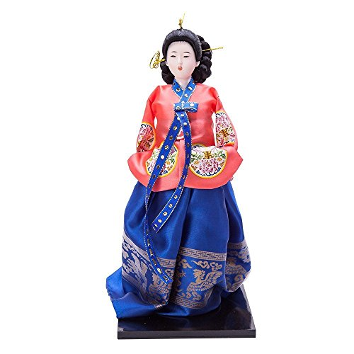 """THY COLLECTIBLES 13.4"""" Korean Beauty Oriental Doll DOL7509-D6"""
