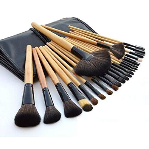 Multifonction portable 24 Couleur de bois rose noir Maquillage Set de pinceau Fondation Foundation Couleur du bois