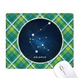 Aquarius Constellation - Alfombrilla de ratón con diseño de celosías verdes