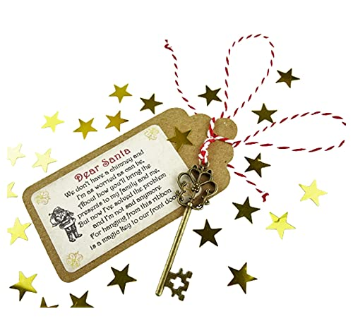 La chiave magica per Babbo Natale, per la Vigilia di Natale, tradizione per chi non ha il caminetto, realizzata a mano