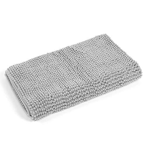 Fdit 50x120cm zilvergrijs soft slip vloermat resistant keuken anti-slip vloermat slaapkamer vloer tapijt badkamer badkuip mat