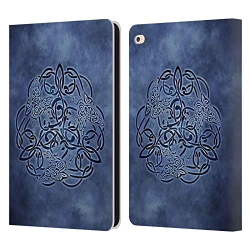 Head Case Designs Officially Licensed Brigid Ashwood Knot Raven Celtic Wisdom Leather Book Wallet Case Cover Compatible with Apple iPad Air 2 (2014)