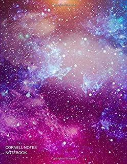 "Cornell Notes Notebook: Galaxy Space Composition Notebook College Ruled Notes Taking Journal for Students - Cornell Notes Paper Large 8.5""x11"", 100 pages"