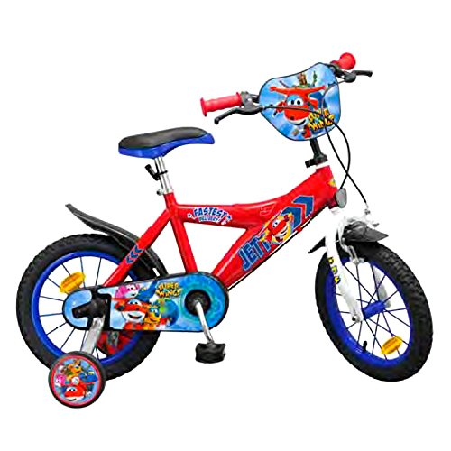 GUIZMAX Vélo Officiel Super Wings 14 Pouces Disney Enfant