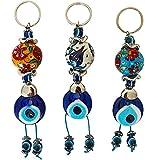 Erbulus Turkish Blue Evil Eye Keychain Amulet...