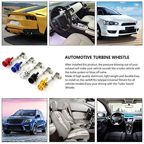 Universal de aluminio Cars Auto BOV Turbo Sound Whistle Tube Simulador de sonido Tubo de escape Silenciador Tubo de tubo de plata