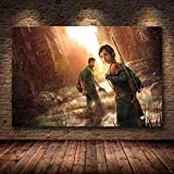 PHhomedecor Sin Marco Cuadros 50X60Cm - Last Us Game Poster Print Zombie Survival Horror Action HD P...