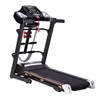 Top Fit MT-732MS Digital Treadmill with Massage Belt, Situp Bench, and Twister, 68 x 127 cm, 3.5 HP - Black