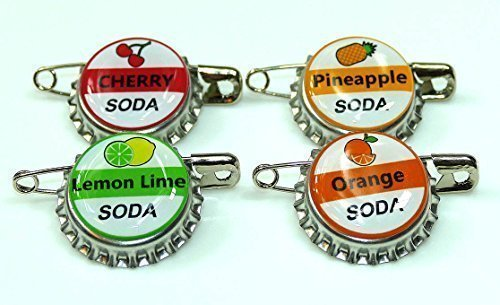 A2ZPlusmore 4 Ellie SODA Bottle Cap pins Inspired by Disney UP Set Up for Costume