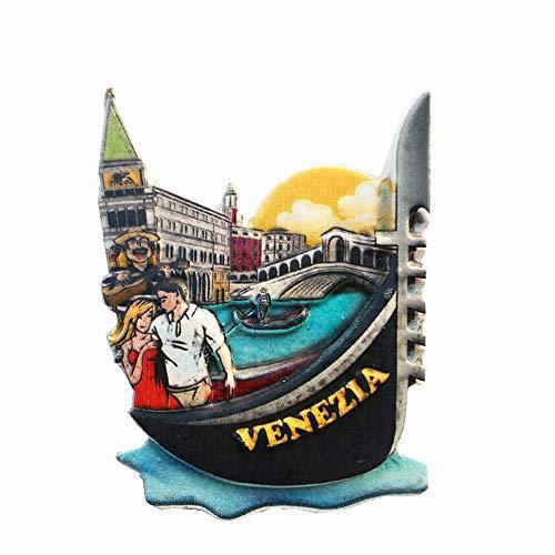 Calamita per frigorifero, design 3D, raffigurante Venezia, ottima come souvenir di viaggio, idea regalo, decorazione per casa e cucina, o articolo da collezione