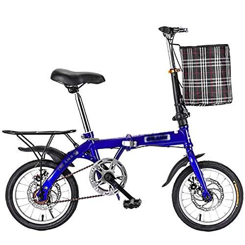 STRTG Klapprad, leicht und robust Faltbares Fahrrad+ultraleichte tragbare Klappfahrrad, für Unisex Fahrrad Falt-Fahrrad Bike 14 * 16 * 20*Zoll Bikes Erwachsene
