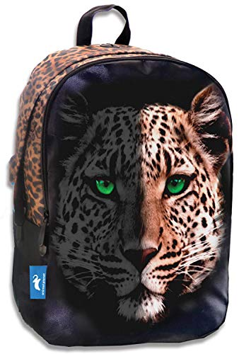 Diakakis Multifunctional Laptop Backpack with USB Charging Port Animal Print Leopard