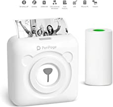Mini Drucker Multifunktionsgerät Buyounger Mobiler Fotodrucker für Smartphone Bluetooth..