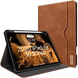 iPad Air 4th Generation Case 2020 iPad Air 10.9 Inch Case W Pencil Holder PU Leather Folio Stand Smart Cover with Pocket Auto Sleep/Wake[Supports Wireless Charging] (Caramel Brown)