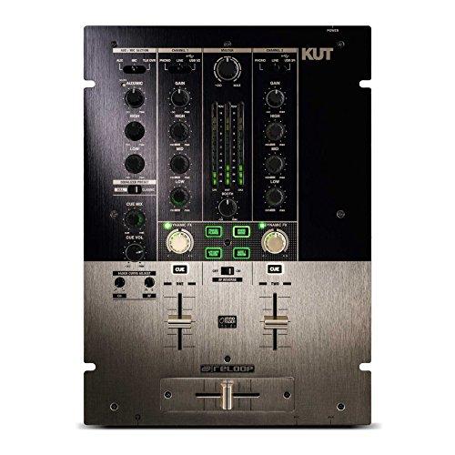 Reloop KUT – professioneller 2-Kanal Scratch/Battle DJ Mixer mit innoFader, USB Audio Interface, 7 dynamischen Effekten und gratis 90 Tage BPM Supreme Abo (Gold-Schwarz)
