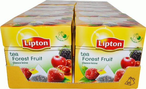 Lipton Pyramids Forest Fruit Black Tea, 20 Teebeutel - 12 Stück