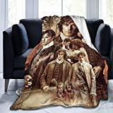 Outlander Jamie Fraser Collage Blanket Soft Flannel Warm Fuzzy Blanket for Couch Office Picnic Travel Best Friend Memorial Birthday Gifts for Kids Adults Throw Blankets 50'x40' Inch