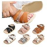 Baby Girl Sandals Summer Crib Shoes Soft Sole Infant Girls Princess Dress Flats First Walker Shoes 0-18 Months Beige