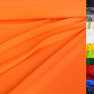 Modestoff / Dekostoff universal Stoff ALLROUND knitterarm - Meterware am Stück Neon-Orange