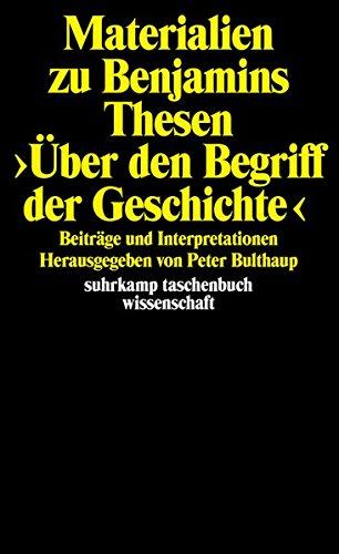 Price comparison product image Materialien zu Benjamins Thesen >Über den Begriff der Geschichte