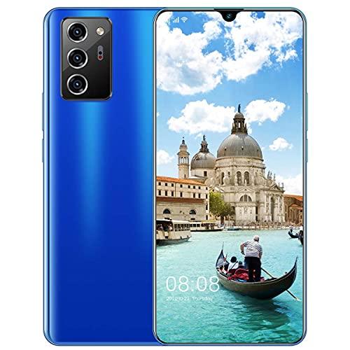 HYDL Smartphone Libre, Teléfono Móvil 6GB RAM+128GB ROM, Batería 5600mAh Pantalla 7,1 Pulgadas HD+ Cámara 48MP+32MP Face ID, Moviles Buenos Y Baratos,Azul