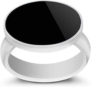 Royal silver ring with black zircon stone for men