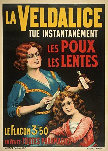 Vintage barbería y Salon French LaVELDALICE para Pelo piojo