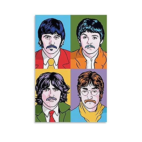 TIBEG Póster de The Beatles, cuadro decorativo, lienzo para pared, sala de estar, póster, dormitorio, pintura, 50 x 75 cm