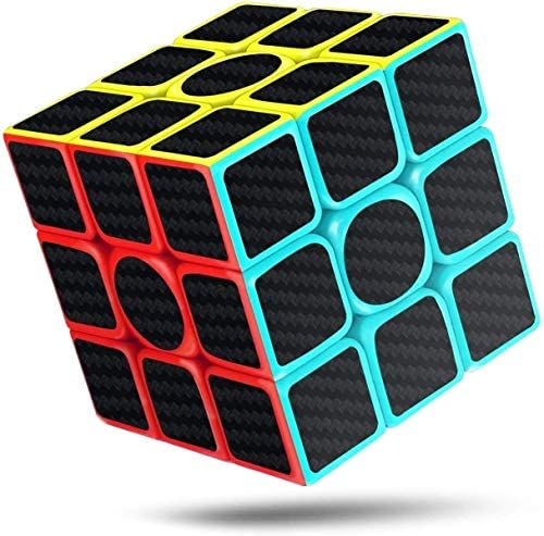 CFMOUR Speed Cube 3x3x3 Fast Magic Cube for Kids Smooth Carbon Fiber Cubes Puzzle Toys Enhanced product image