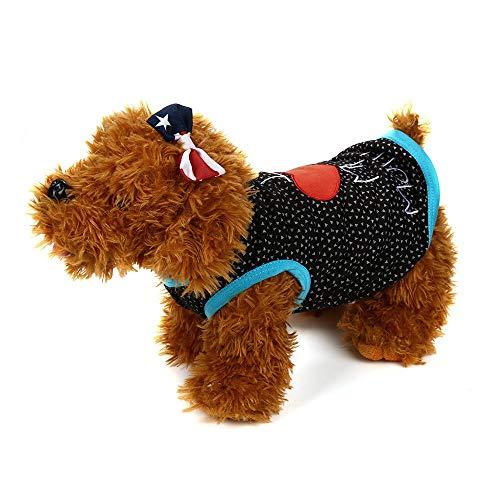 Shirts für Hunde Sweater Strick Hundepullover Baumwolle Pullover Haustier Sommer Kurzarm T-Shirt Gedruckt Strickpullover Weiches Bequemes Hundekostüm für Kleine Katze