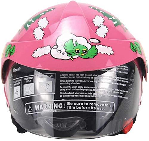 YANQIN Casco de Bicicleta para niños de Color Rosa, Casco de Moto...