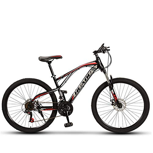 Mountain Bike, Outdoor Cross-Country Shock Absorber Boy/Girl 24'' 26'' Mountain Bike, High Carbon Steel 21/24/27/30 Variable Speed Bicycles, Mountain Bike Adult Men And Women Students,24 inch,27 speed