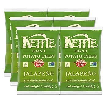 Kettle Brand Potato Chips Jalapeno 2 Oz  Pack of 6