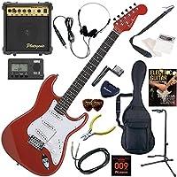 Photogenic エレキギター 初心者 入門 ストラトタイプ 10wアンプが入ったスタンダード15点セット ST-180/MRD(メタリックレッド)
