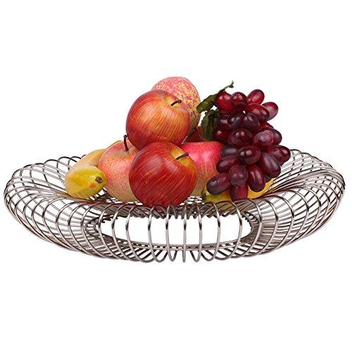 WENZHE Fruit Rack Corbeille À Fruits Plateau Panier De Rangement Créatif Multifonction Le Fer, 40 * 8 Cm Panier à Fruits