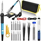 Soldering Iron Kit ON/Off Switch 60W 110V Adjustable Temperature Welding Tool Kit