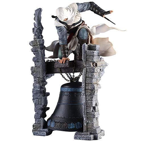 ALTcompluser Assassin's Creed PVC Figur ALTAIR THE LEGENDARY ASSASSIN ON BELL Statue Actionfigur Sammelfigur | Spielzeug Zimmer Deko