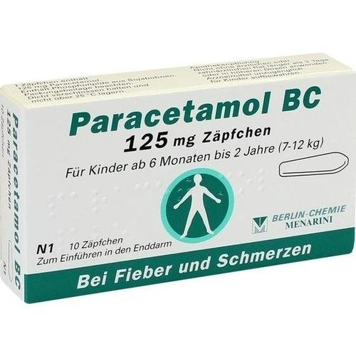 PARACETAMOL BC 125 mg Suppositorien 10 St